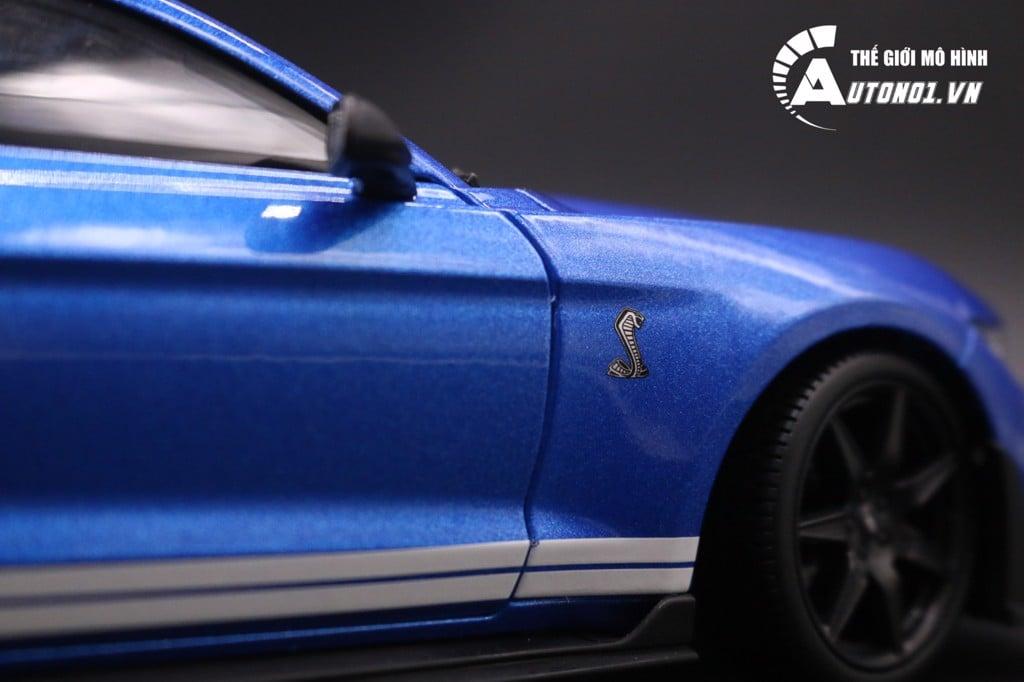 MÔ HÌNH XE FORD MUSTANG COBRA GT500 BLUE 1:18 MAISTO 7030