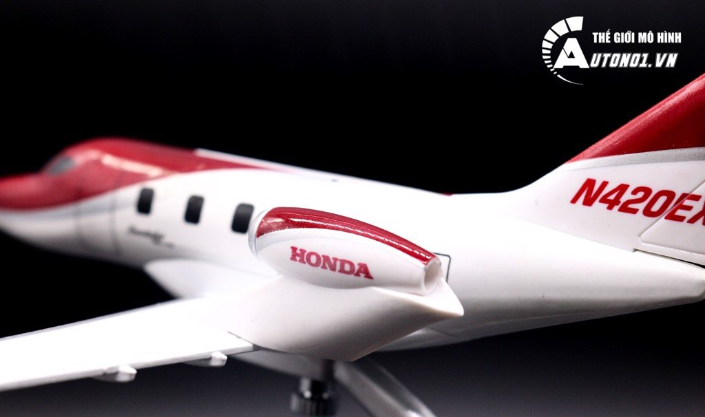 MÔ HÌNH MÁY BAY EVERFLY HONDAJET BUSINESS CLASS RED 18CM 1:72 6778