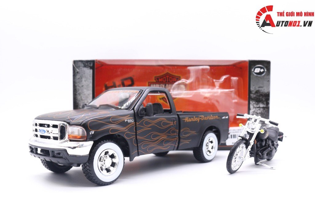 MÔ HÌNH BÁN TẢI FORD F350 SUPER DUTY PICKUP 1999 1:24 - FXSTB NIGHT TRAIN 2002 1:24 MAISTO