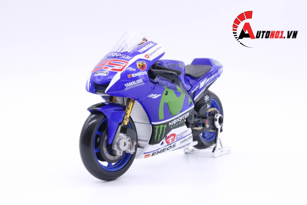 MÔ HÌNH XE MOTO GP YAMAHA FACTORY RACING 2016 JORGE LORENZO NO.99 1:18 MAISTO 5819
