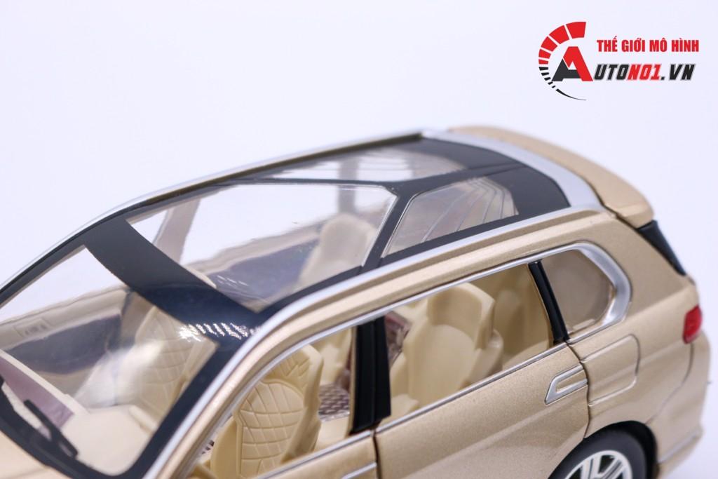 MÔ HÌNH XE BMW X7 YELLOW 1:24 CHEZHI 6225