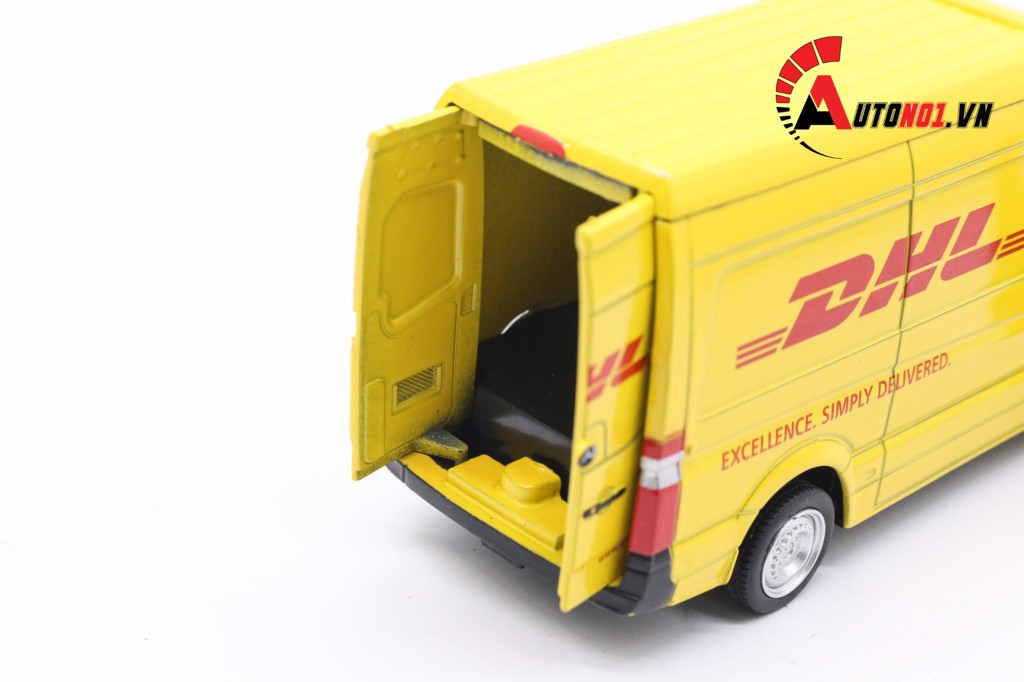 MÔ HÌNH MERCEDES BENZ DHL SPINTER YELLOW 1:36 ALLOY 3944