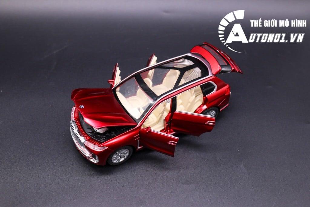 MÔ HÌNH XE BMW X7 RED 1:32 CHE ZHI KHÔNG HỘP