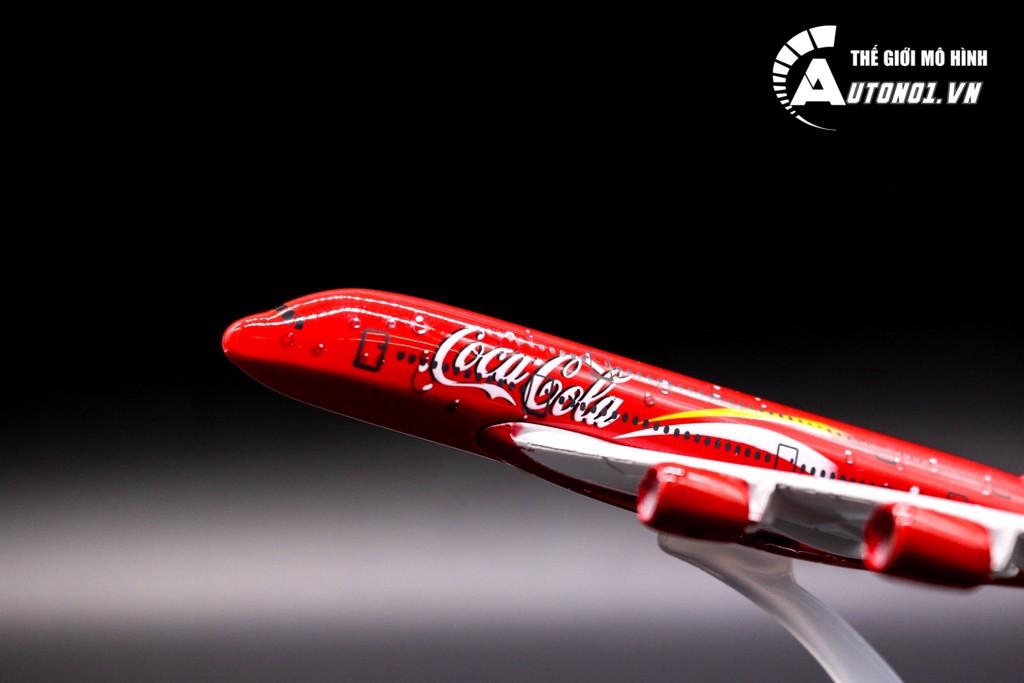 MÔ HÌNH MÁY BAY AIRBUS A380 COCACOLA 16CM EVERFLY 6850