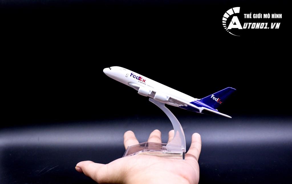 MÔ HÌNH MÁY BAY AIRBUS A380 FEDEX 16CM EVERFLY 6862