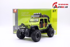 MÔ HÌNH XE OFF-ROAD KINGS 2015 JEEP WRANGLER UNLIMITED GREEN 1:24 DIECAST 7127