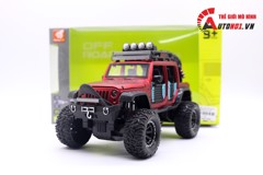 MÔ HÌNH XE OFF-ROAD KINGS 2015 JEEP WRANGLER UNLIMITED RED 1:24 DIECAST 7128