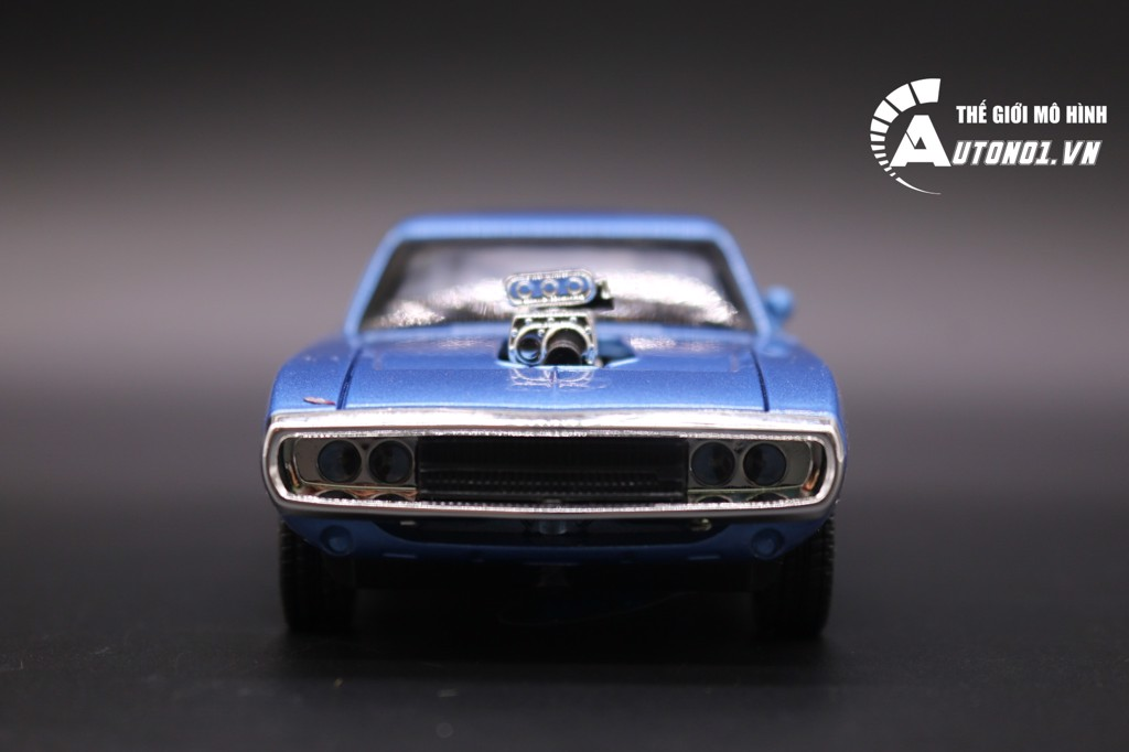 MINI AUTO DODGE CHALLENGER 1970 FAST AND FURIOUS BLUE 1:32 KHÔNG HỘP 1464