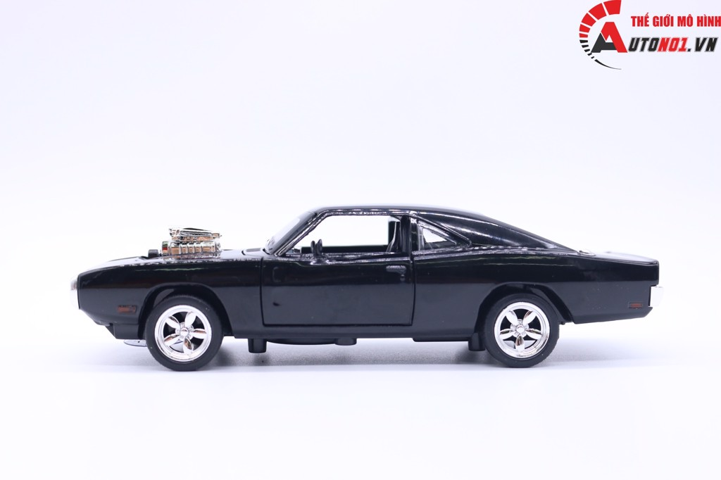 MINI AUTO DODGE CHALLENGER 1970 FAST AND FURIOUS BLACK 1:32 KHÔNG HỘP 1417