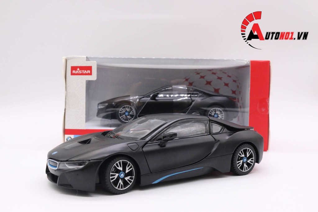 MÔ HÌNH XE BMW I8 BLACK 1:24 RASTAR 3661
