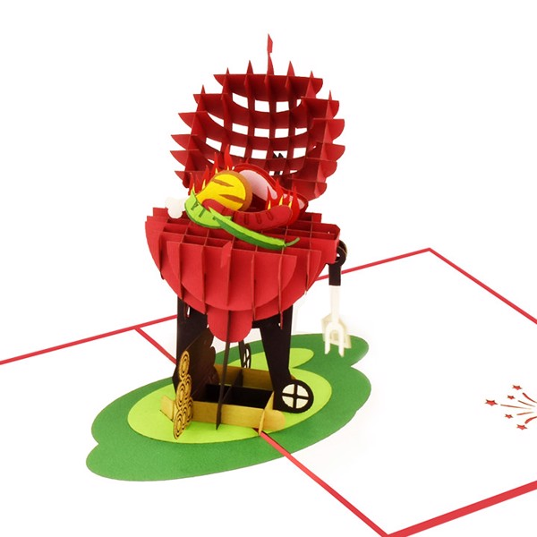 Thiep 3D Pop up Barbecue model papercolor