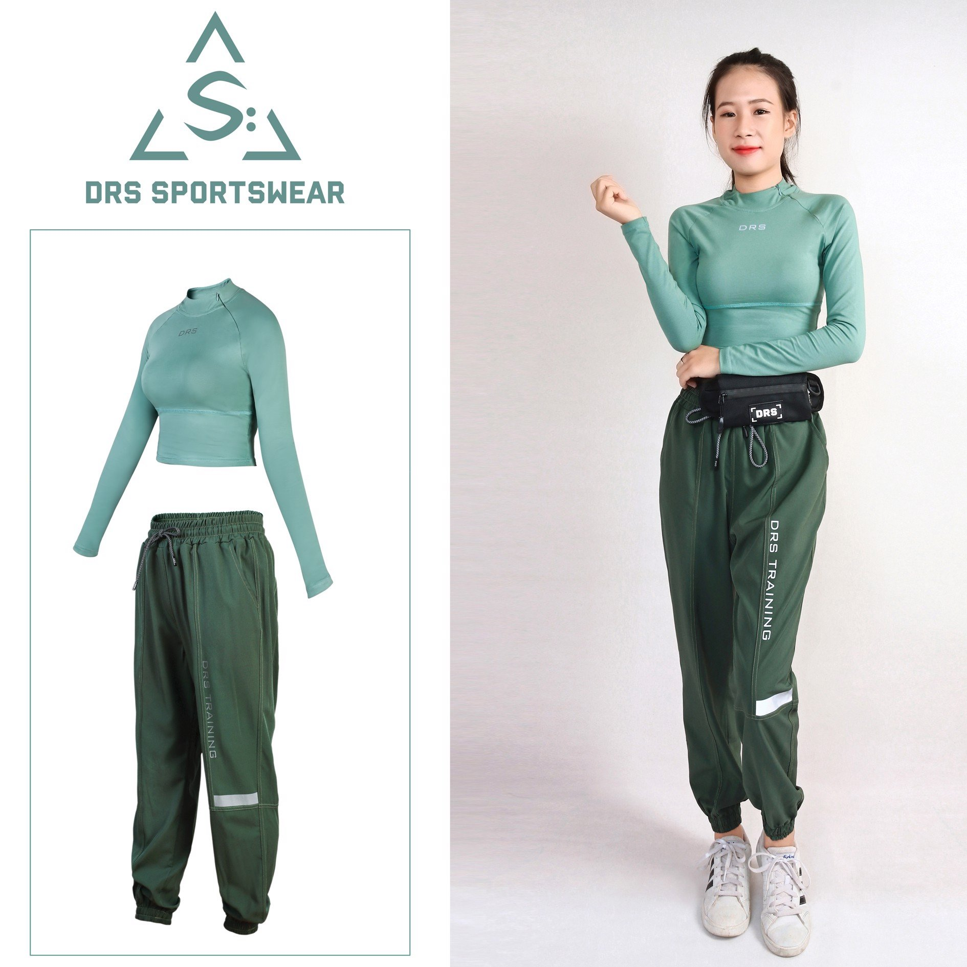 CROPTOP WITH JOGGER TRACKSUIT 4 COLORS DRN37-38