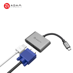 CỔNG CHUYỂN 2IN1 USB-C ADAM ELEMENTS CASA TO HDMI & VGA