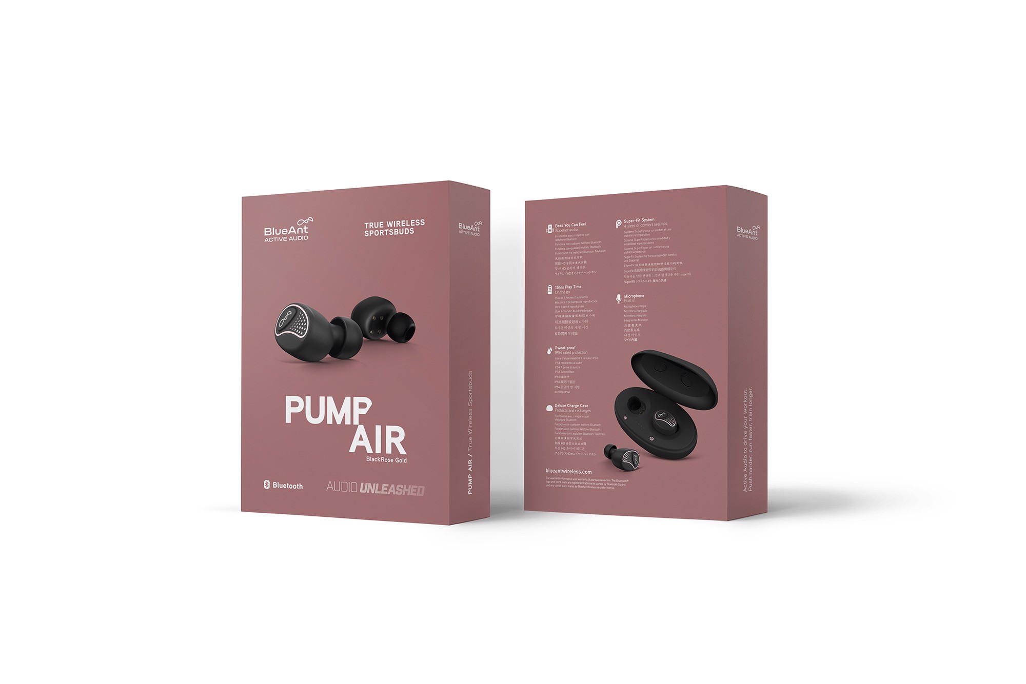 Tai nghe Pump Air Black Rose Gold