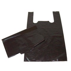 Black bubble wrap HD plastic bag with two straps