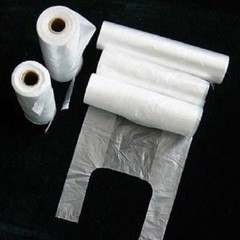 HDPE transparent roll plastic bag