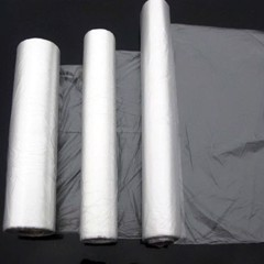 Containing supermarket food roll plastic bag