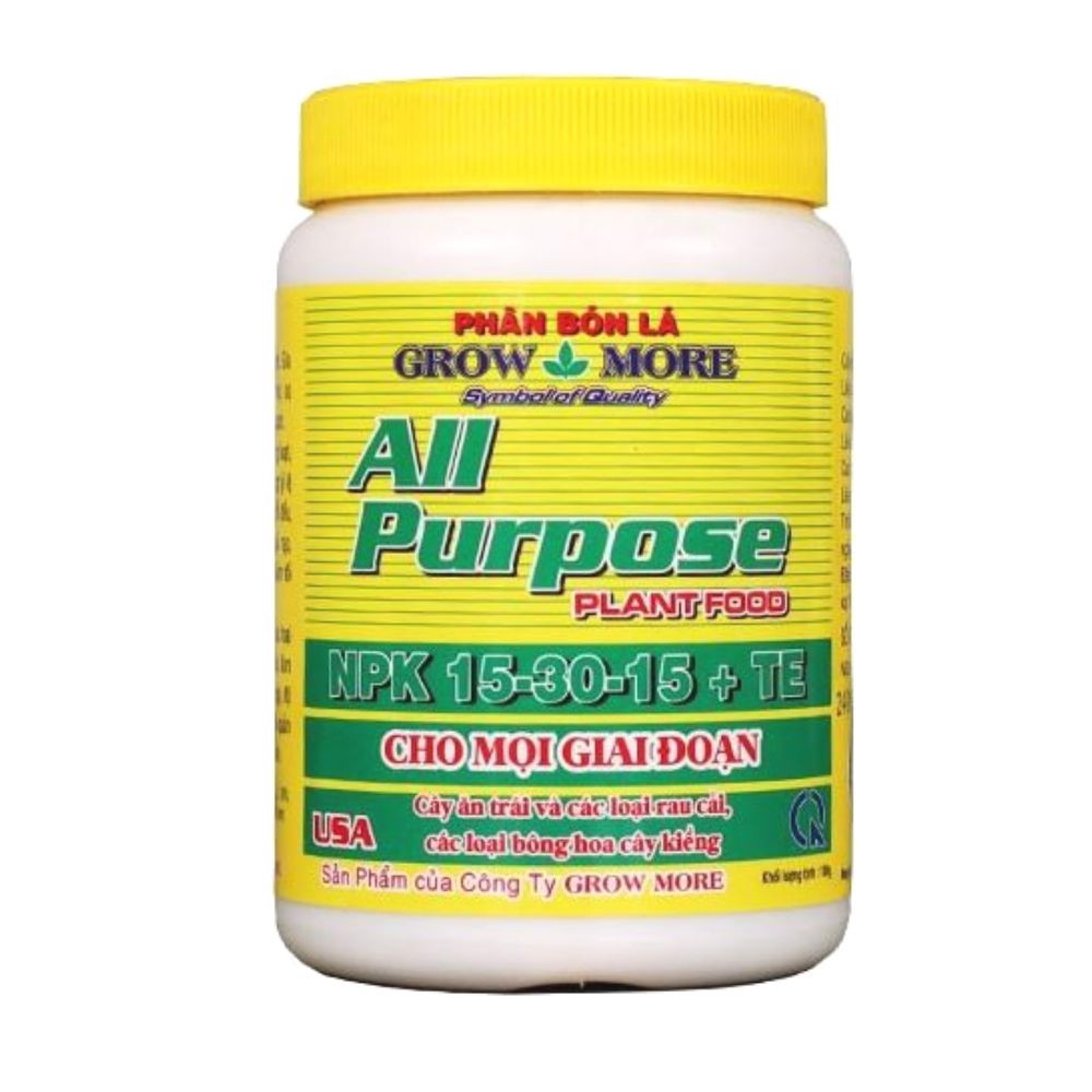 Phân Bón Lá Growmore All Purpose NPK 15-30-15+TE