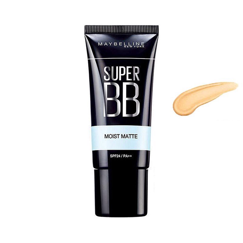 Kem Nền Maybelline Super BB Moist Matte BB Cream Màu 02 Medium Beige 30ml