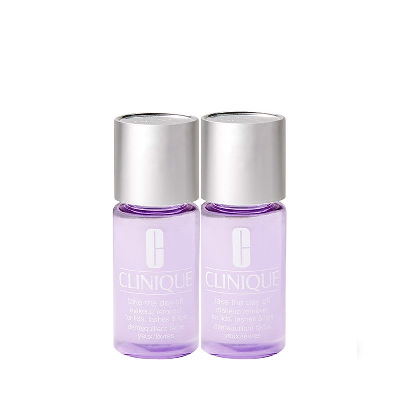 Combo Tẩy Trang Mắt Môi Clinique Take The Day Off Makeup Remover For Lids Lashes - Lips 30ml