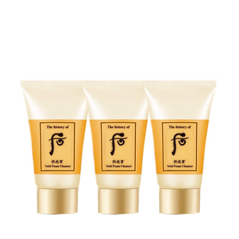 Combo 3 Sửa Rửa Mặt The History Of Whoo Gongjinhyang Facial Farm Cleanser 13mlx3