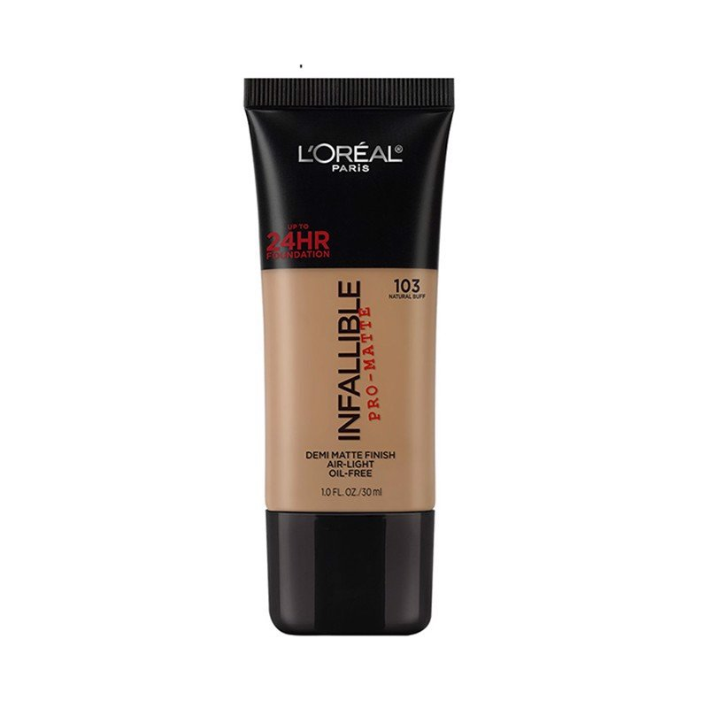 Kem Nền Trang Điểm L'Oreal Infallible Pro-Matte 24H Foundation Makeup 103 Natural Buff 30ml