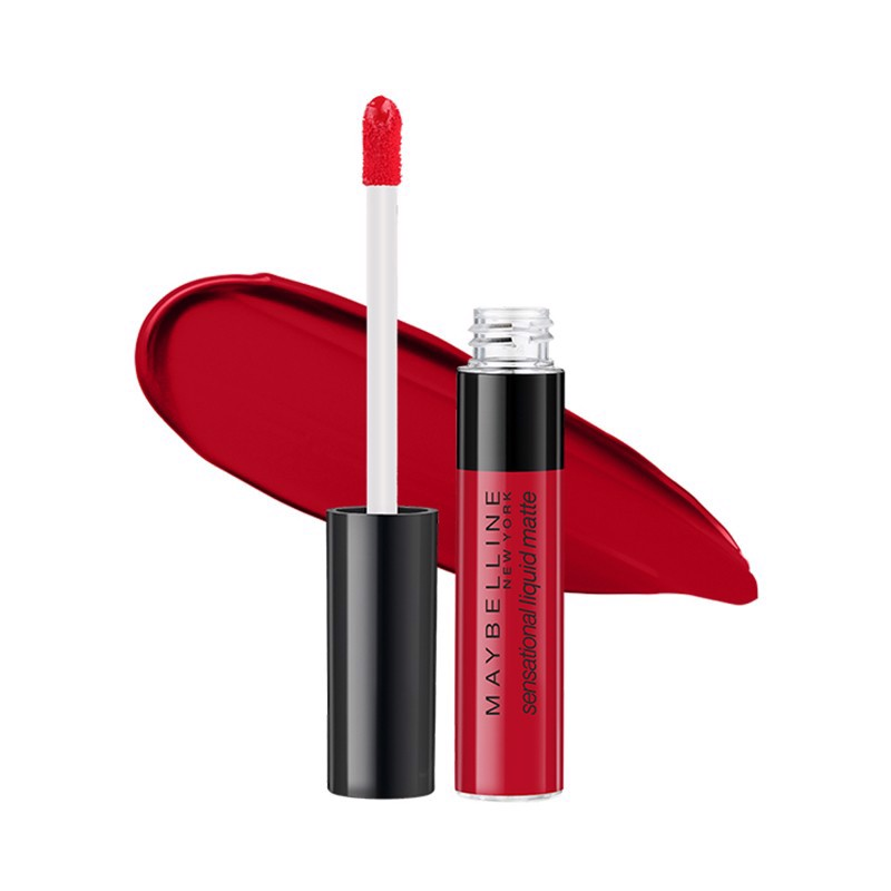 Son Kem Lì Nhẹ Môi Maybelline Sensational Liquid Matte Lipstick - 03 Flush It Red 7ml