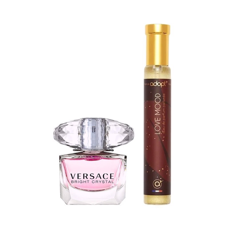 Combo Nước Hoa Mini Versace Bright Crystal 5ml Và Love Mood Adopt' For Women EDP 30ml
