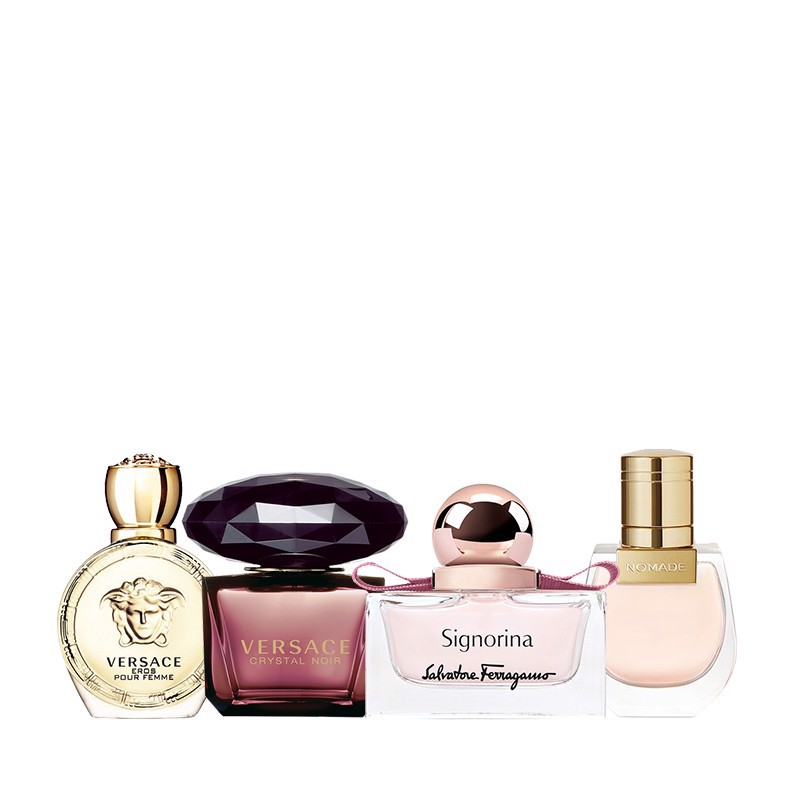 Combo 4 Nước Hoa Mini Chloe Nomade For Women EDP 5ml - Salvatore Signoria 5ml - Versace Crystal Noir EDT 5ml - Versace Eros Pour Femme EDP 5ml