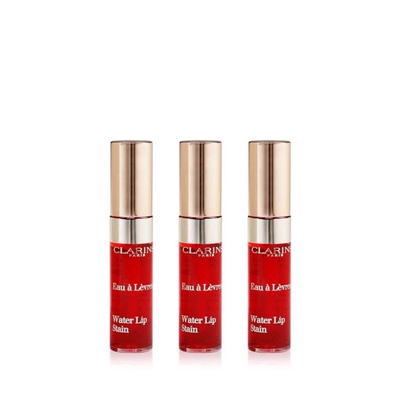 Combo 3 Son Nước Clarins Water Lip Stain Màu Số 3 Red Water 2.8mlx3