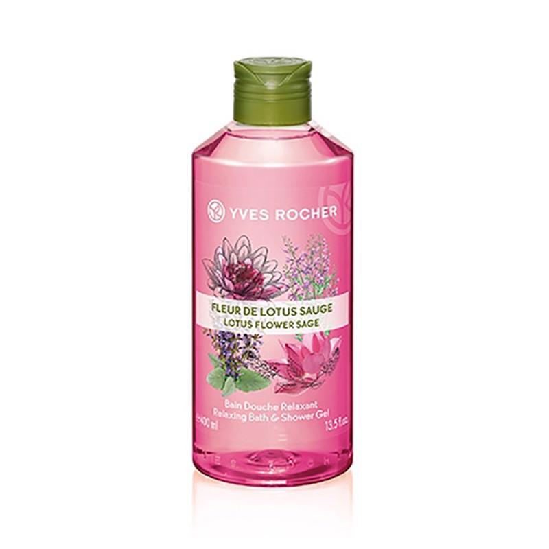 Gel Tắm Relaxing Shower Gel Lotus Flower - Sage 400ml
