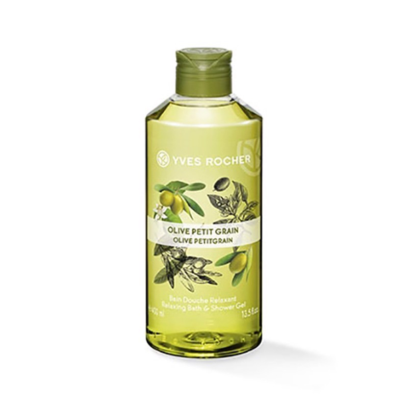 Gel Tắm Yves Rocher Relaxing Bath And Shower Gel Olive Lemongrass 400ml