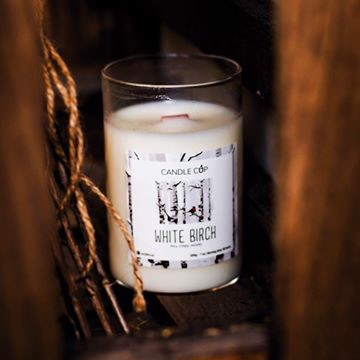 Candle cup 200g - White Birch