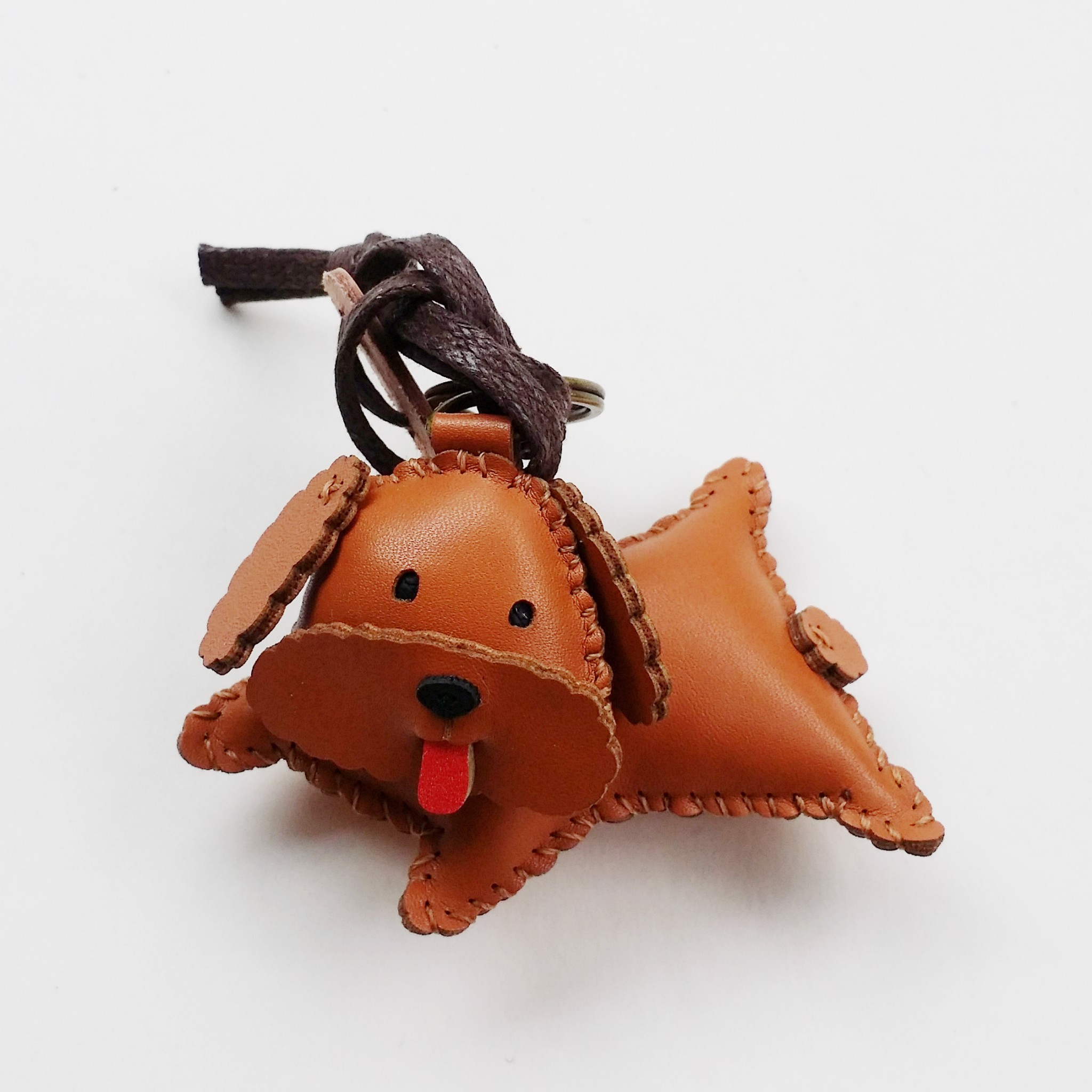 Charm Da Chó Poodle Độc Đáo - Unique Leather Charm Poodle Edition
