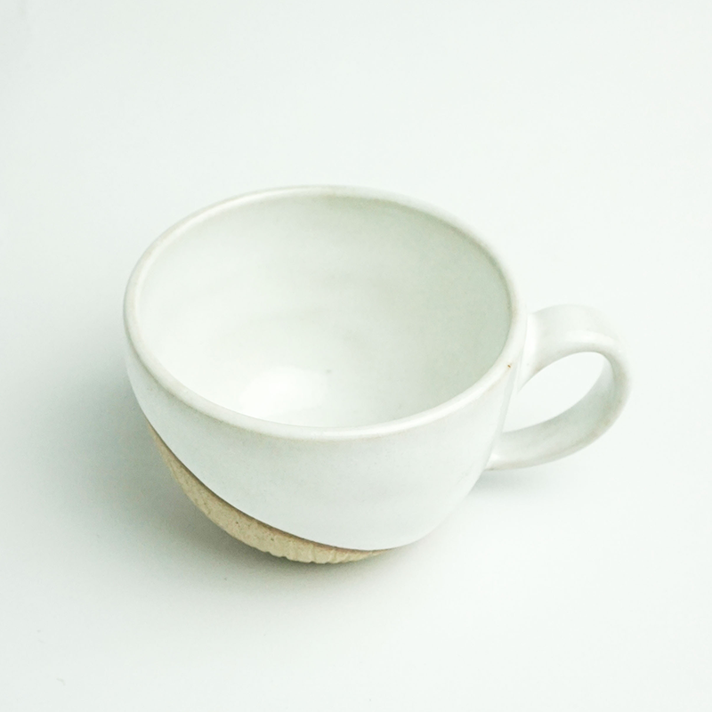 Ly Gốm Thủ Công Clay Trắng - Handmade Pottery Clay Cup White