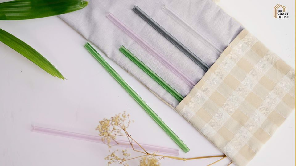 Ống Hút Thủy Tinh The Craft House /// The Craft House Glass Straw