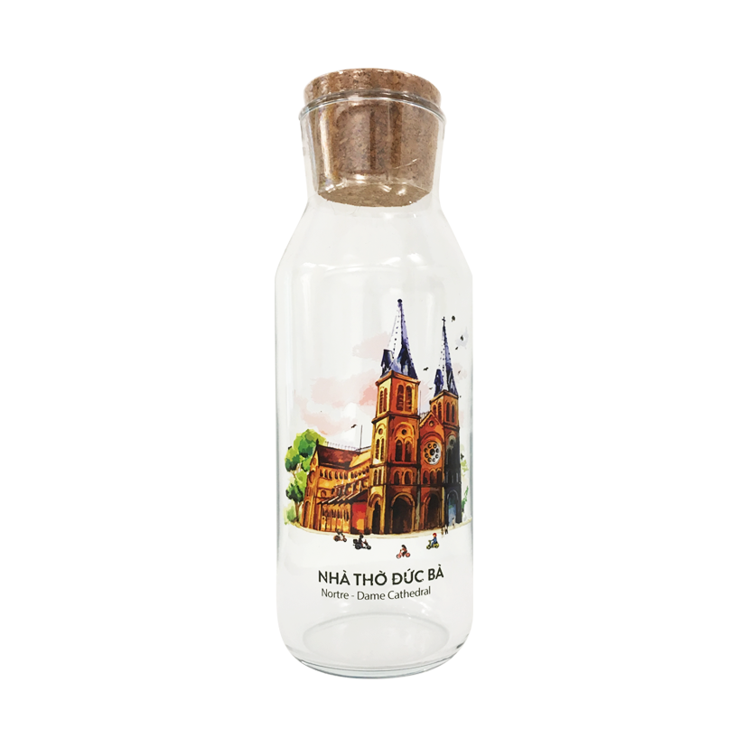 Chai Thủy Tinh Nhà Thờ Đức Bà The Craft House - The Craft House Glass Bottle Notre Dame Catheral Church Edition