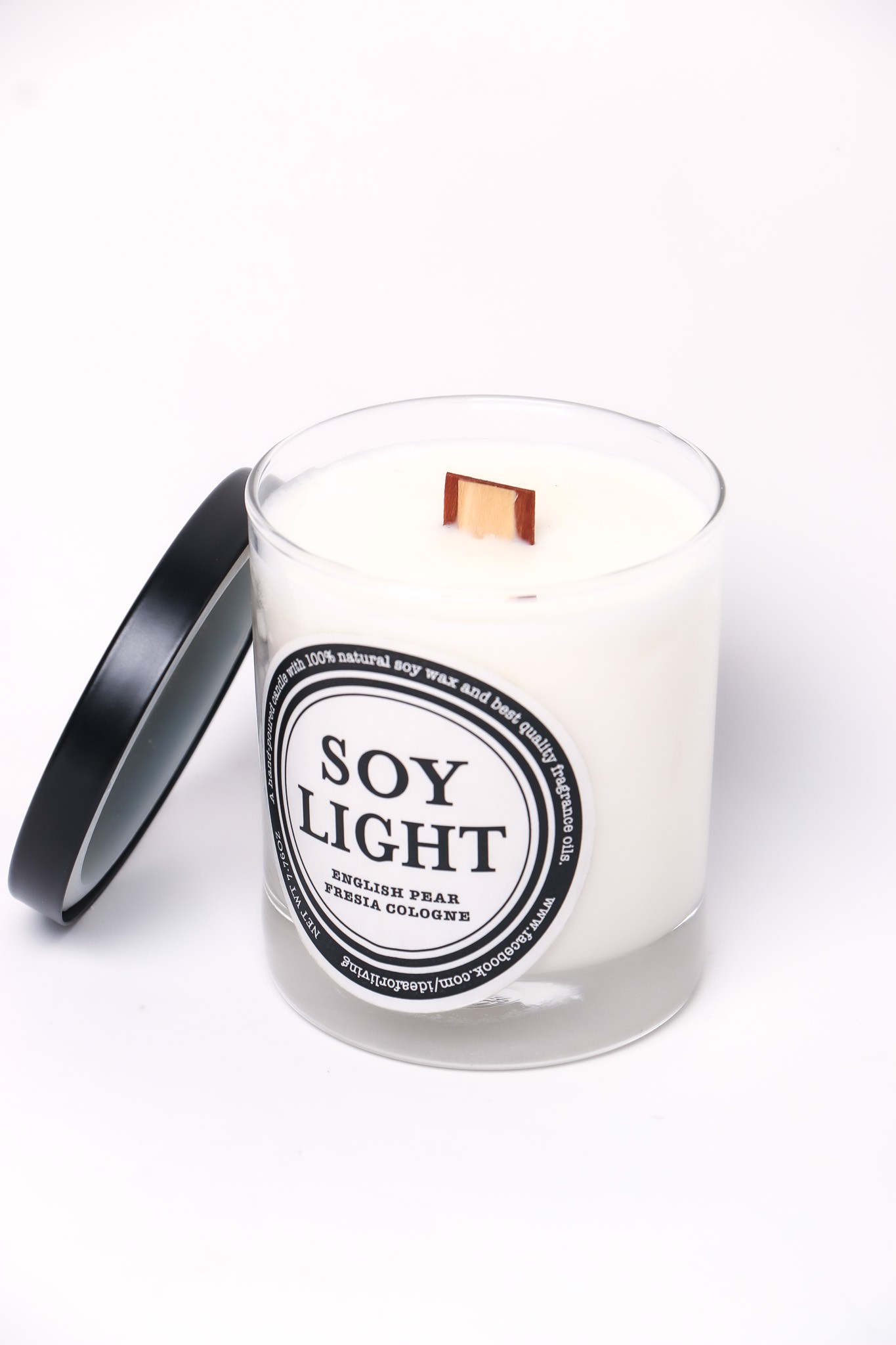 Nến Sáp Thơm Thiên Nhiên English Pear - Natural Soy Light Candle English Pear