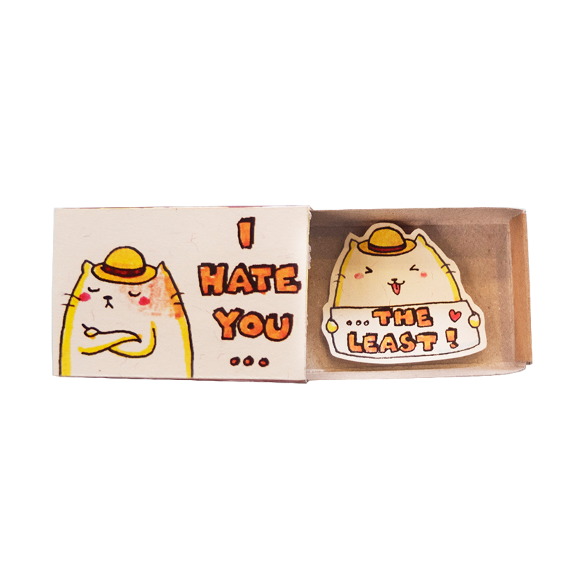 Thiệp Hộp diêm I Hate You the Least - LV093