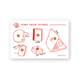 Bộ Sticker Dán Tem Thư Coffee - Sticker Coffee stamps