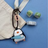 Charm Da Cánh Cụt Độc Đáo - Unique Leather Charm Penguin Edition