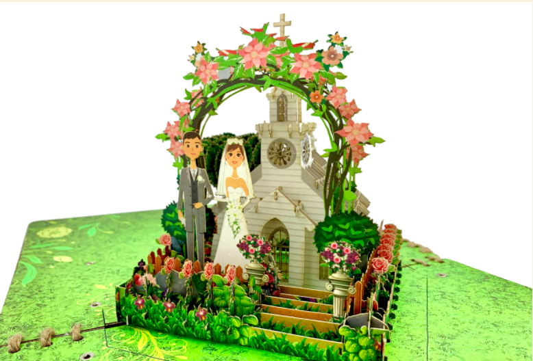 Mô Hình Giấy Lắp Ráp 3D Church Weeding T - Church Weeding Tayta-Craft 3D Model T