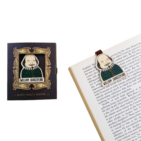 Kẹp Sách Giấy William Shakespeare - Paper Bookmark William Shakespeare