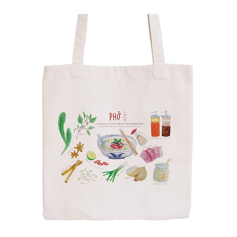 Túi Tote Canvas Phở - Pho Canvas Tote Bag