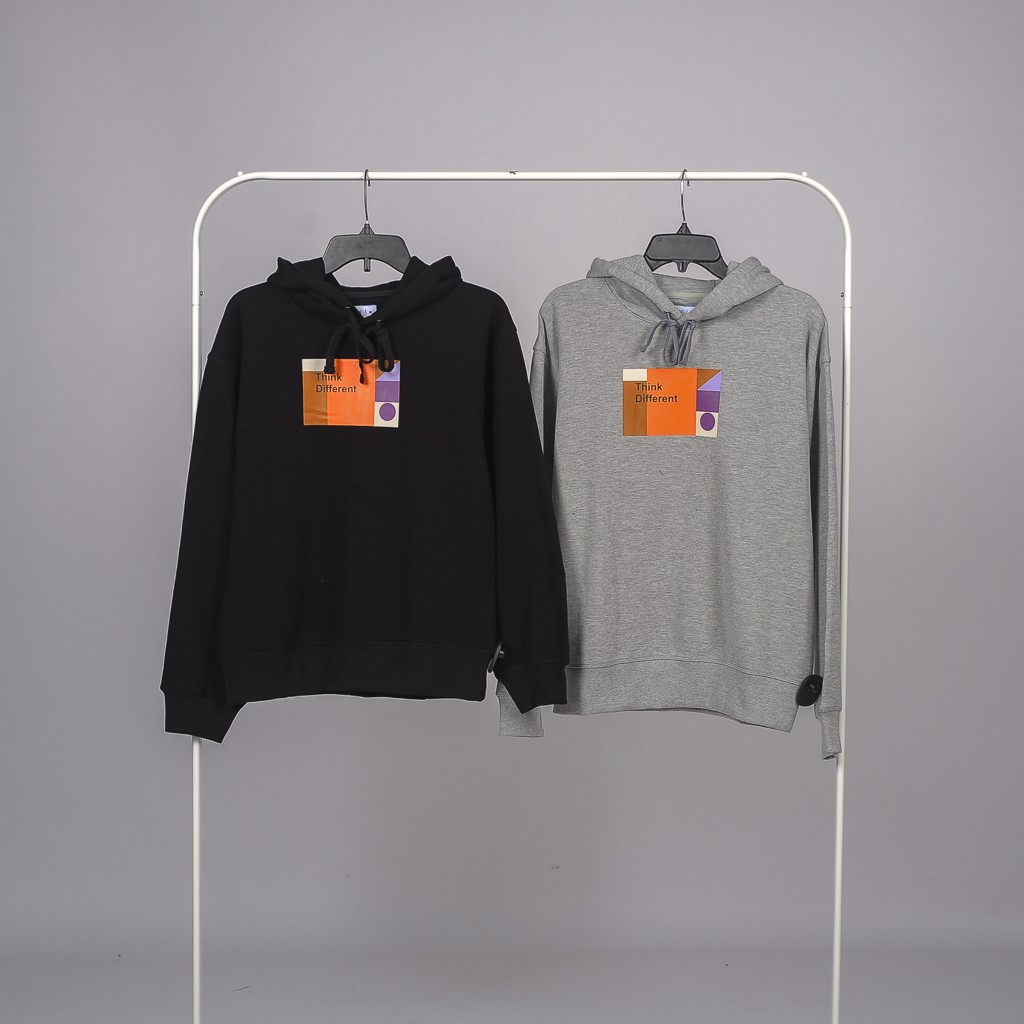 Áo nỉ nam hoodie in chữ Think different