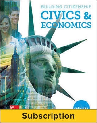 Building Citizenship: Civics & Economics, Student Learning Center, 1-year subscription
