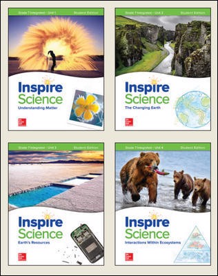 Inspire Science: Integrated G7 Write-In Student Edition 4-Unit Bundle
