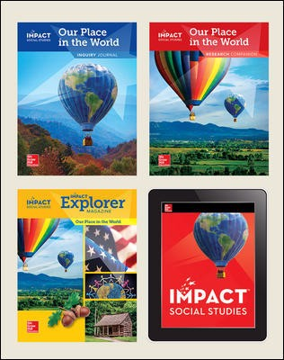 IMPACT Social Studies, Our Place in the World, Grade 1, Complete Print & Digital Student Bundle, 1 year subscription