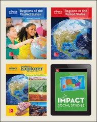 IMPACT Social Studies, Regions of the United States, Grade 4, Complete Print & Digital Student Bundle, 1 year subscription