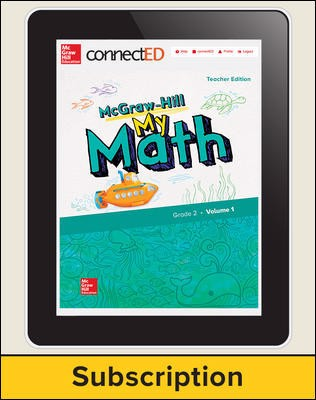 McGraw-Hill My Math, Teacher Center 1 Year Subscription Grade 2